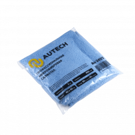 Микрофибра салфетка голубая комплект AuTech PROFI-MICROFASERTUCH BLAU 40х40см 400гр 3шт Au-241/3